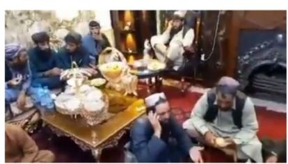 Watch Video As Taliban Militants Wine And Dine In Presidential Palace