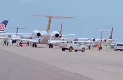 Watch Video, See Photos As 100 Private Jets In Kano For Yusuf Buhari's Wedding
