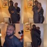 BBNaija Star, Tega And Husband Hug, Kiss For The First Time After Her Eviction