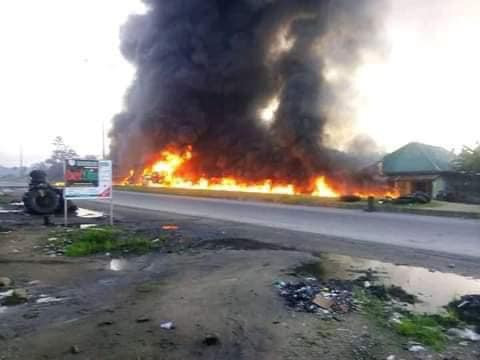 Many Confirmed Dead, Properties Burnt As Petrol Tankers Explode In Rivers State