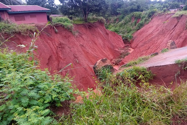 See Photo As Erosion Cuts Off Community In Anambra