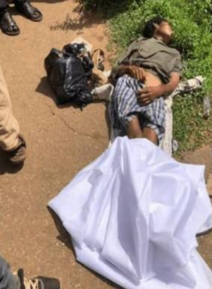 See Photo As Suspected Yahoo Boys Dumps Lady's Body On Akure Road