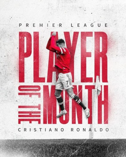 Cristiano Ronaldo Wins Premier League Player Of The Month For September