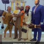 Davido, Chioma Attend Church Together With Their Son