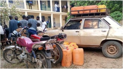 How Smugglers Used Peugeot 504 To Smuggle 250 Litres Of Fuel To Bandits In Katsina Forest