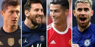 Messi, Ronaldo, Lewandowski And Jorginho Makes 30-Man List