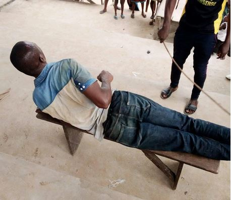 Suspected Plantain Thief Mercilessly Flogged In Bayelsa State