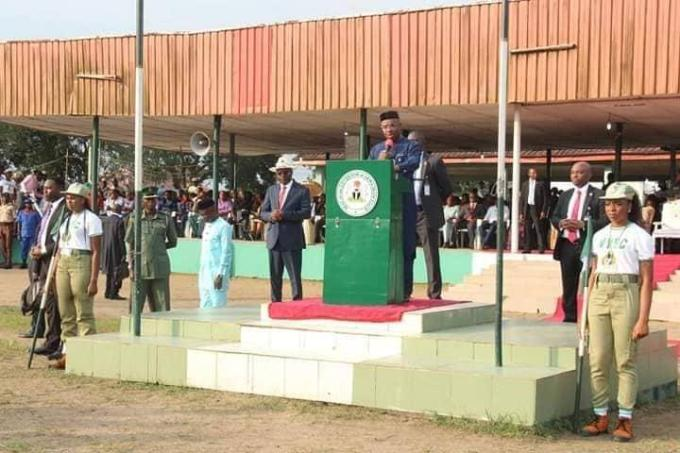 Akwa Ibom Governor, Udom Attend NYSC Orientation Course Closing Ceremony In Uyo