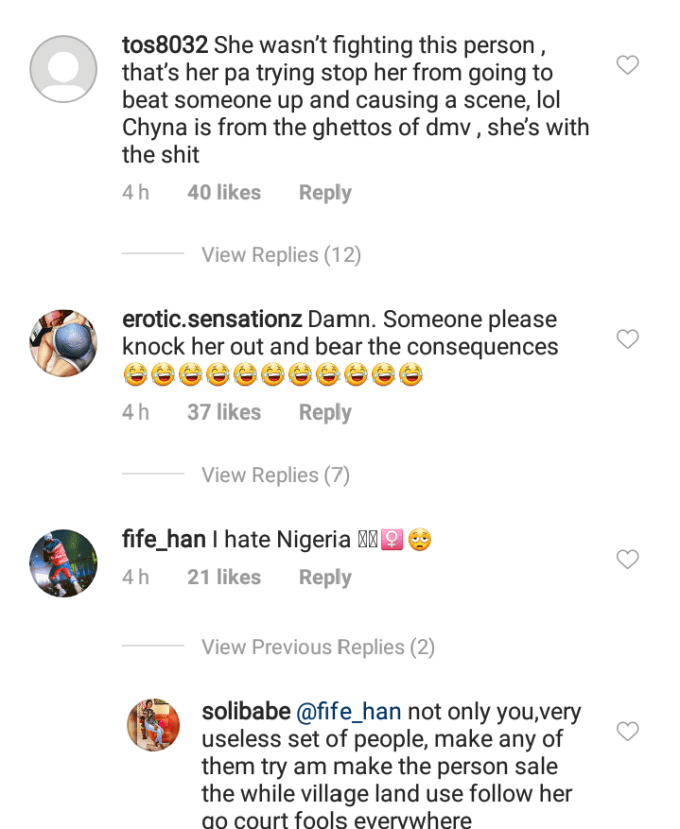 Americans React On Social Media To Blac Chyna Fighting In Nigeria