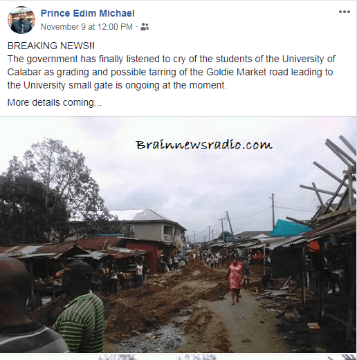 Market Leading To UNICAL Gets Government Notice As Construction Begins