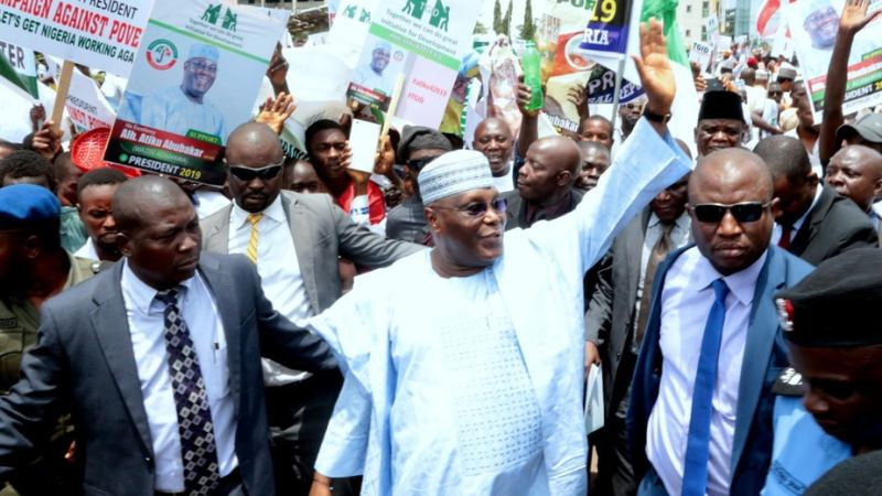 Special Security Squad Search Atiku On Arrival From Dubai
