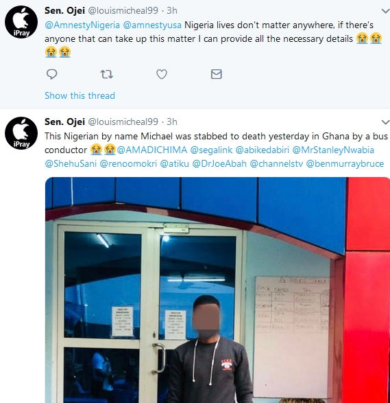 Bus Conductor In Ghana Stabbed Nigerian Man To Death