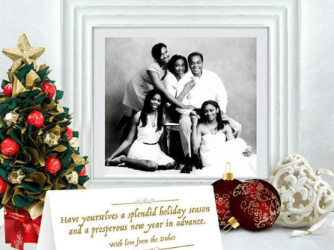 Cute Christmas Card Of Donald Duke And His Family
