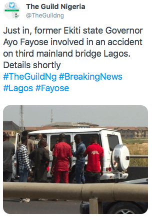 Fayose Involved In Motor Accident, Hospitalized
