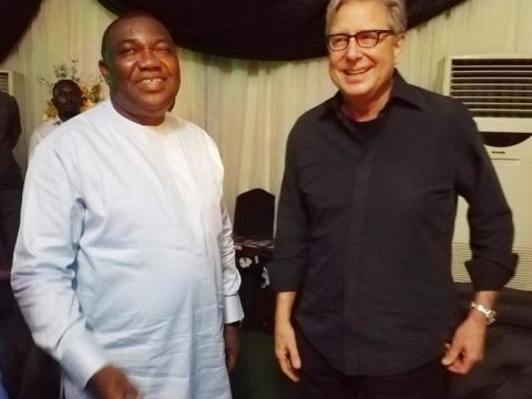 Governor of Enugu State, Ugwuanyi Poses With Don Moen