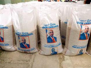 Ikono Chairman's Aide Displays Akwa Ibom Rice On Social Media