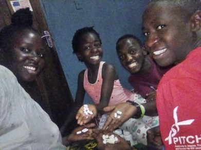 Lady Shows Off Her Family Living With HIV