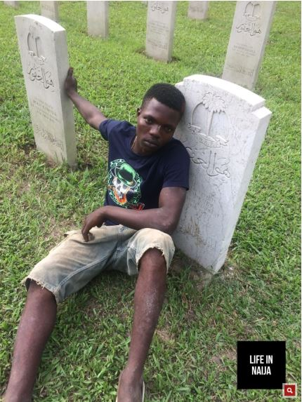 Meet Cemetery Attendant Who Digs Graves For A Living In Lagos