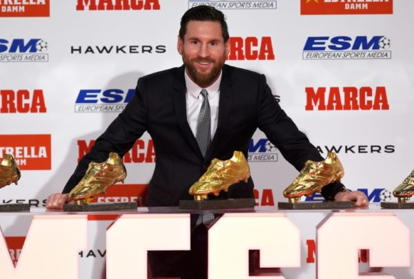 Messi Awarded With 5th Golden Shoe