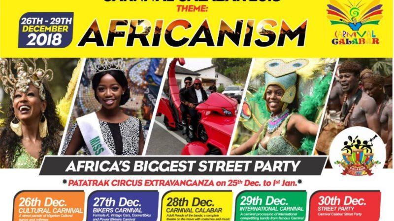 Miss Africa Calabar 2018, Africa's Biggest Street Festival