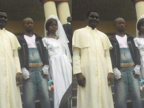 Moment Man Wears Jeans On His Wedding Day