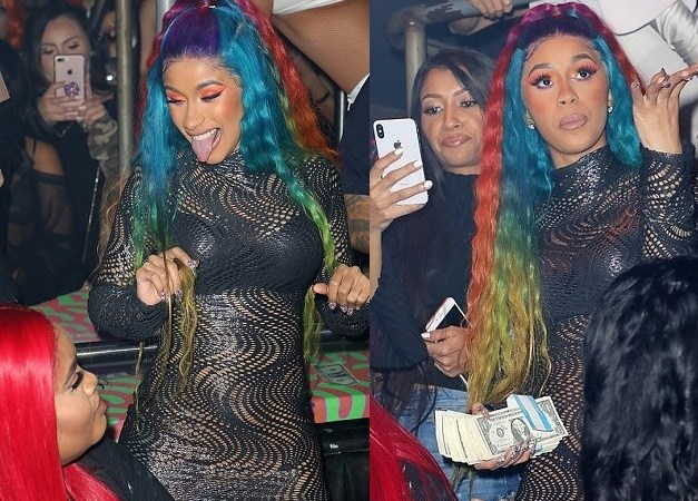 Revealing Dress Cardi B Wore As She Parties After Announcing Split From Offset