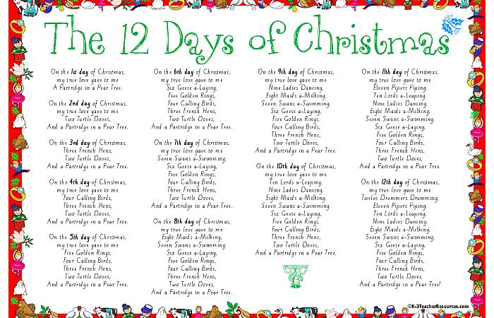 'The Twelve Days of Christmas'