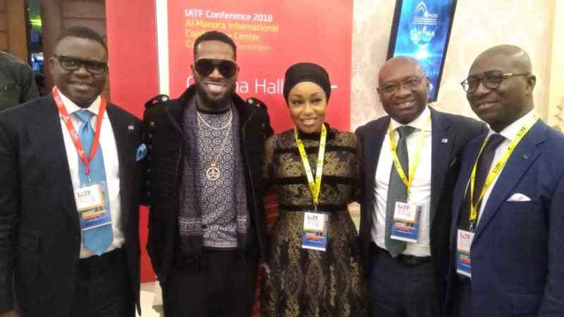 Trade Fair In Cairo - D'Banj, Rita Dominic At Heritage Bank Stand