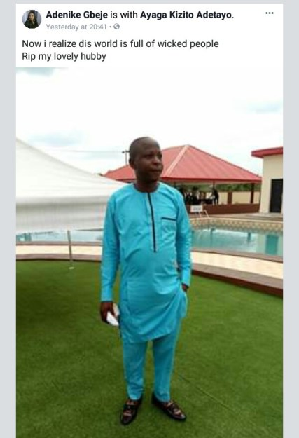 Wife Of Man Shot Dead In Ekiti Cries Out - Now I Realize This World Is Full Of Wicked People