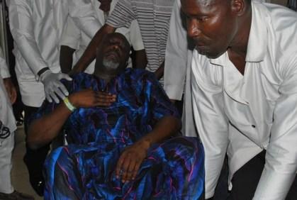 Abuja - Dino Melaye Arrives The Police Clinic