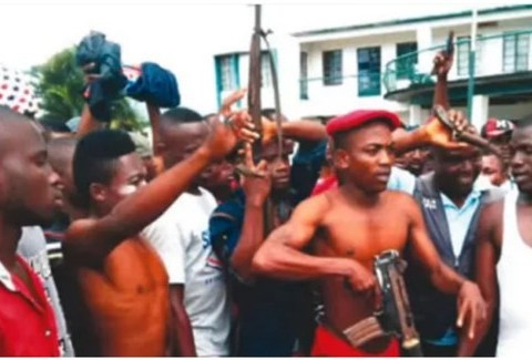 Masks Armed Cultists Invade Streets Of Calabar