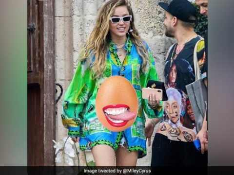 Miley Cyrus Use Viral Egg Meme To React To Pregnancy Rumours