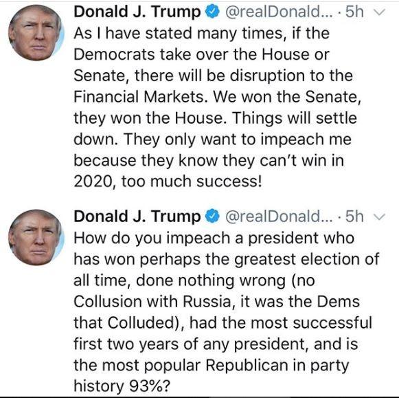 President Trump Fires Back At Democrats