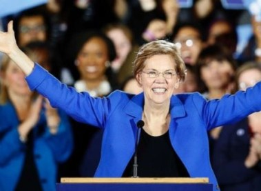 Senator Elizabeth Warren Declares To Run Against Donald Trump In 2020 Presidency