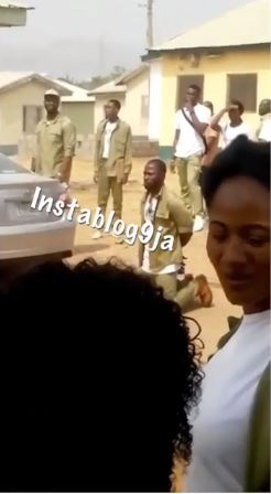 Youth Corper In Abuja Ordered By NYSC Coordinator To Kneel Down In Public