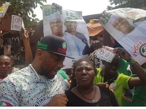 Actor Yul Edochie Goes From House To House For Campaign