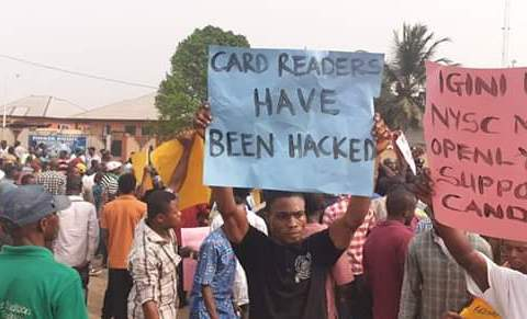 Akwa Ibom Youths Protest, Says 'INEC REC Is Working For PDP, Redeploy Him'
