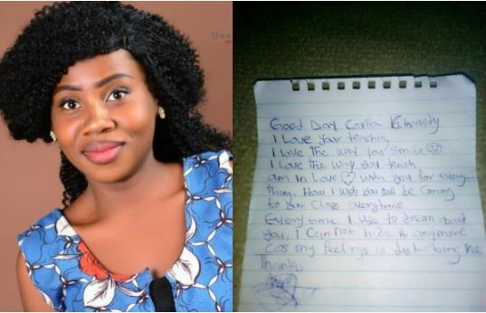 Beautiful Corper Receives Love Letter From JSS2 Student, Falls In Love With Her