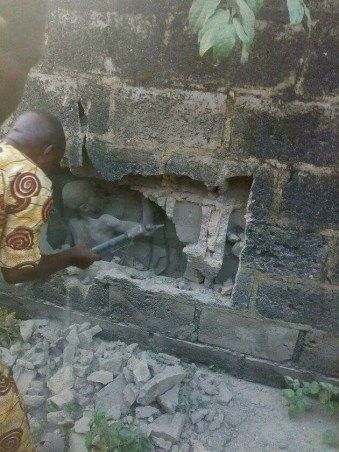 12-year-old Boy Found In The Middle Of Moulded Laid Blocks In The Foundation Of A Church Building