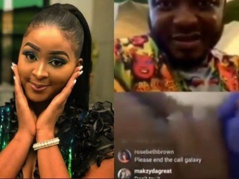 Actress, Etinosa Goes Naked On MC Galaxy's Live Video