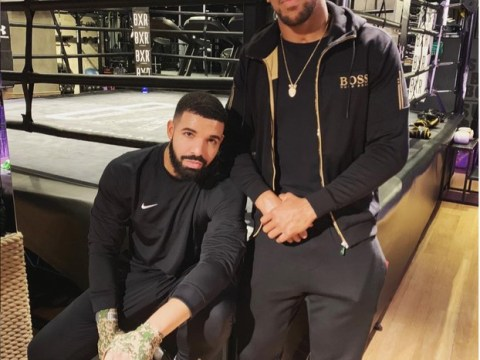 Drake And Anthony Joshua Pose Together