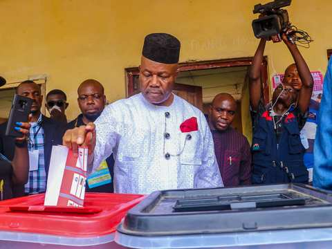Godswill Obot Akpabio And Wife Vote