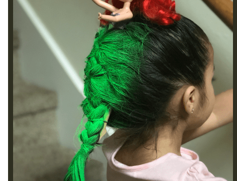 See Mermaid-inspired Hairstyle On A Little Girl As She Goes Viral