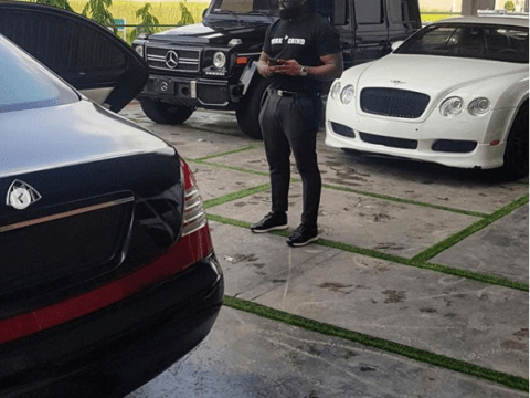 See Photo As Timaya Shows Off His Impressive Garage