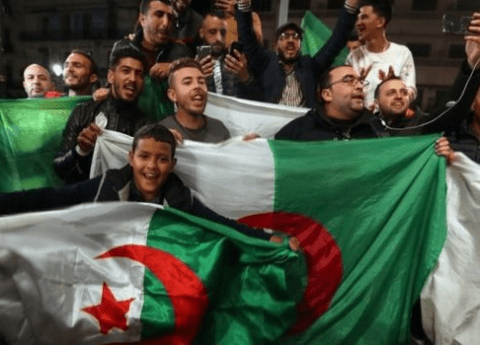 Algerians Take To Streets To Celebrate After Their President Resigns