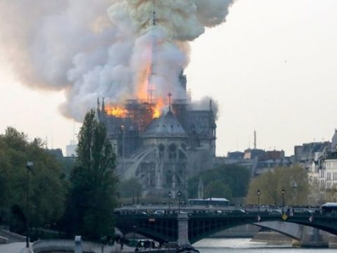 Notre-Dame Cathedral In Paris Is On Fire