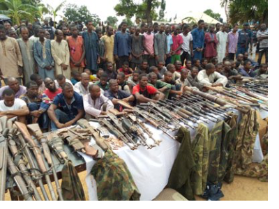 93 Suspected Kidnappers On Kaduna-Abuja Road Paraded By Police