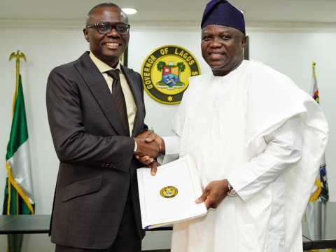 Ambode Hands Over To Sanwo-Olu