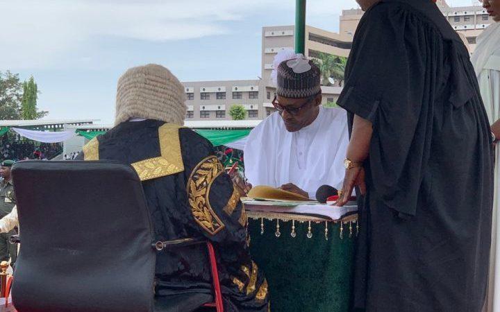 Buhari, Osinbajo Sworn Into Office For Second Term