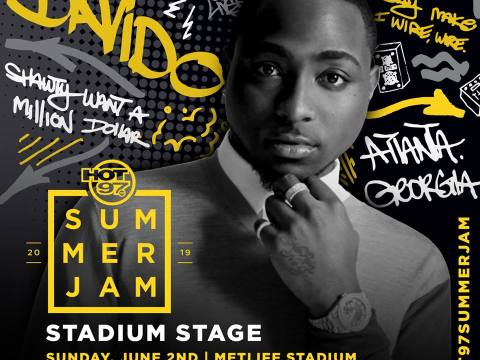 Davido To Perform At HOT 97 Summer Jam In June